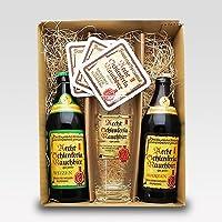 【欧州産チョコ付】シュレンケルラ500ml×2本(メルツェン・ヴァイツェン)+専用グラス+コースター3枚セット[ドイツビールセット] (ホワイトデーギフト)