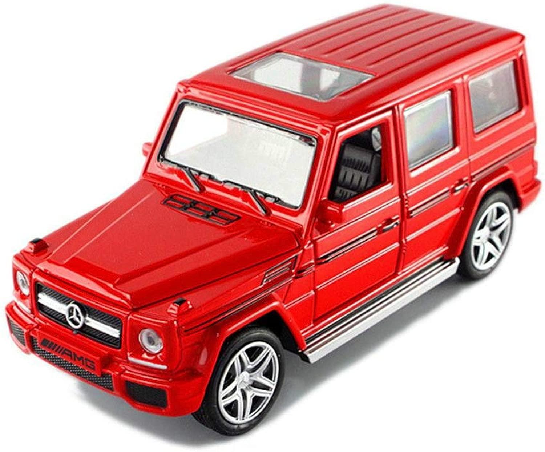 LYZD 1  32Lega Pull Back modello auto modello giocattolo Suono e Luce Tirare Indietro Giocattolo Bambino Regalo rosso