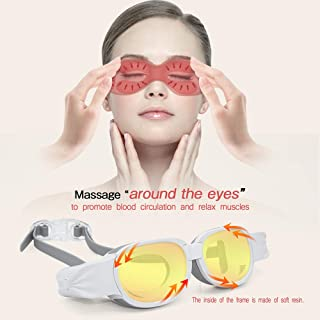 TOA Eye Massager Eyes Massager Eye Massage mask Machine Device Portable Thermal Electric Rechargeable Manual Heated USB Wireless Sonic Vibration