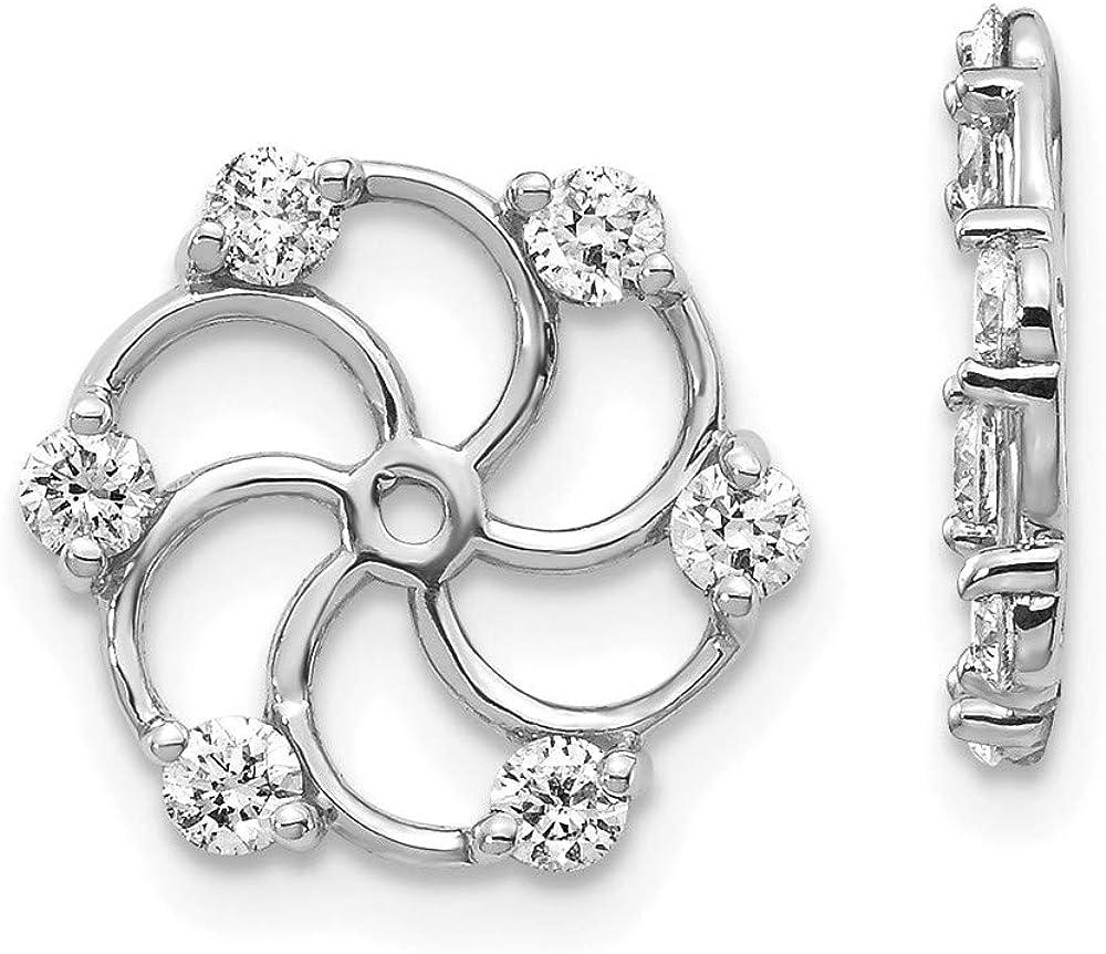 14k White Gold Diamond Earring Jacket Mountings 11mm 12mm style XJ5W
