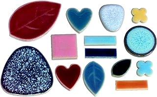 Jennifer`s Mosaics 5-Pound Deco Ceramic Mosaic Tile, Assorted Colors