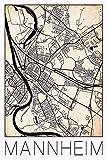 David Springmeyer: Retro Karte Mannheim Deutschland Grunge