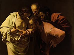 Berkin Arts Michelangelo Merisi da Caravaggio Giclee Canvas Print Paintings Poster Reproduction(The Incredulity of Saint Thomas)