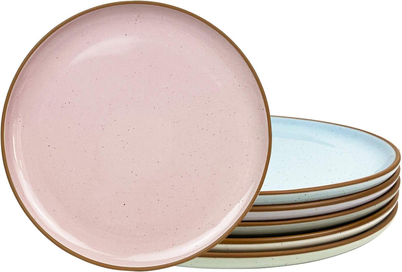 Quality inspection Mora Ceramic Dinner Plates Set of 6 Popular popular Microwav Dish inch 10 -