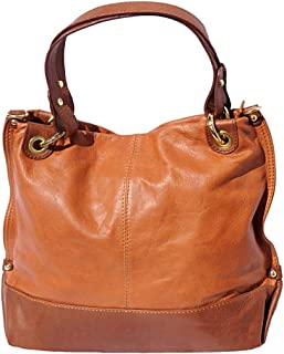 FLORENCE LEATHER MARKET Borsa a mano Cuoio e Marrone in pelle donna 35x14x23 cm - Alice - Made in Italy