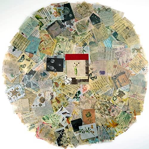 366PCS Vintage scrapbooking Papier,Retro Aufkleber,Tagebuch,Bastelarbeiten,Papier,alte Zeiten,Buchstaben,Pflanzenblatt für Bastelarbeiten und Bastelprojekte
