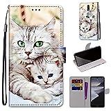 DICASI Hülle für Nokia 2.4 Premium PU Leder Flip Wallet Hülle, Stoßfest Schutzhülle mit [Magnetisch] [Kartenfächer] [Standfunktion] für Nokia 2.4