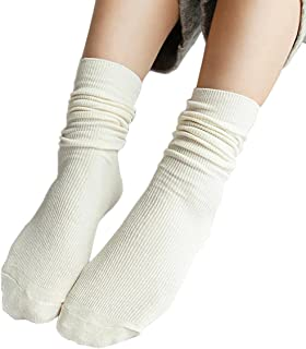 iSpchen, Butterme 3?Pares Mujer Super Suave Lana Calcetines Vintage Solid Color Algod¨®n Invierno C¨²mulos Medias Calcetines Botas Calcetines Medias Calcetines Blanco Wei? Talla ¨²nica