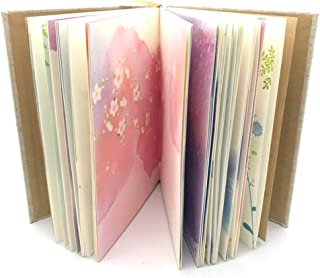 Siixu Colorful Blank Notebook, Unruled Personal Diary Journals to Write in for Women and Girls, Hardcover Writing Notepad Gift, Unique Watercolor Design, 192 Pages, 2 Bookmarks, Unlined