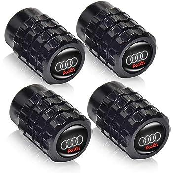 GO-UPP 5pcs Metal Chrome Car Tire Valve Stem Caps for Audi S Line S3 S4 S5 S6 S7 S8 A1 A3 RS3 A4 A5 A6 A7 RS7 A8 Q3 Q5 Q7 R8 TT Car Styling Decoration Accessories