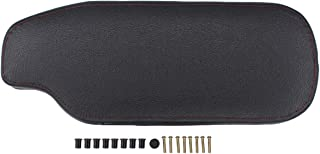 NewYall Console Center Flip Open Armrest Cover with Red Stitching