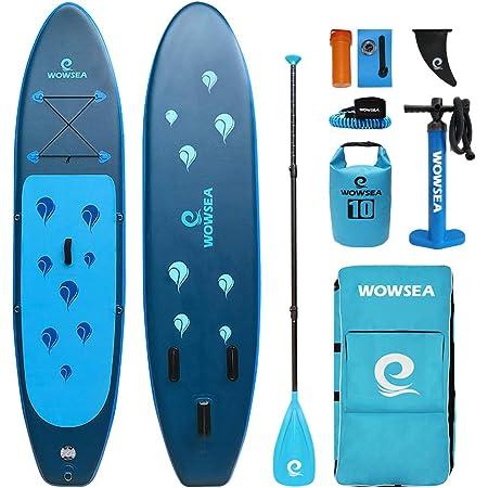 WOWSEA Bionics B1 SUP サップ アップパドルボード サップボード 幅80cm 厚15cm 積載130-150kg 初心者 中級者 滑り止め 7点セット SUPボード ヨガ 釣り 海 夏 アウトドア インフレータブルサーフボード