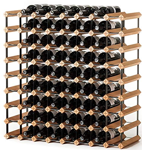 RAXI ™ Classic Premium Weinregal aus Holz mit luxuriösem Design/Flaschenregal für 72x Wein Flaschen - 80x80x30 cm