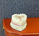 Miniatur Hochzeit Torte aus Polyresin, von Creal. für 1:12 Puppenhaus. 2,7x1,5cm