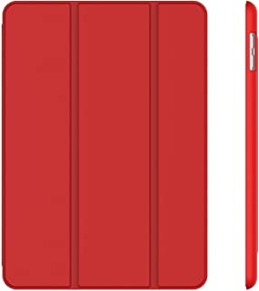 Case for Apple iPad 9.7-Inch, 2018/2017 Model Auto Wake and Sleep with Smart Cover (Red)