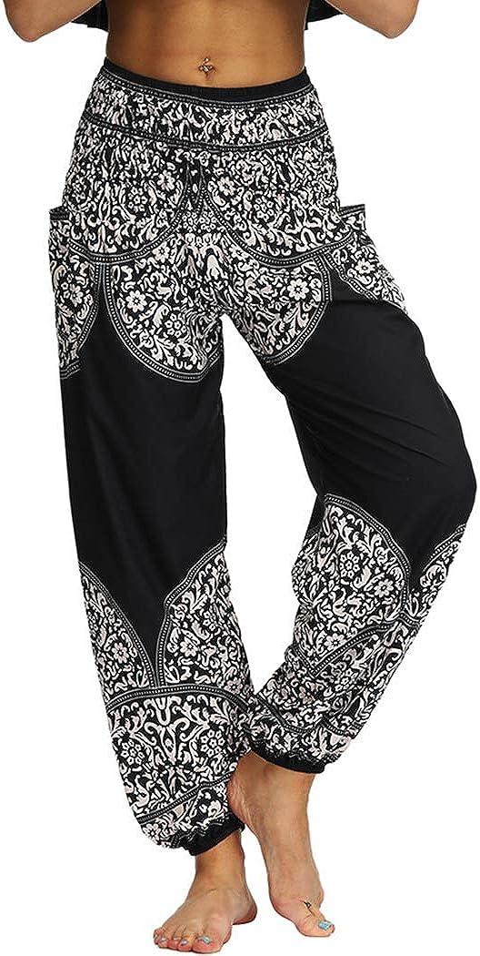 AviviRuth Women's Rayon Print Smocked Harem Popular brand Pants Waist Finally popular brand Bohemian