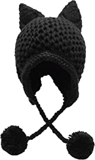 Winter Cute Cat Ears Knit Hat Ear Flap Crochet Beanie Hat