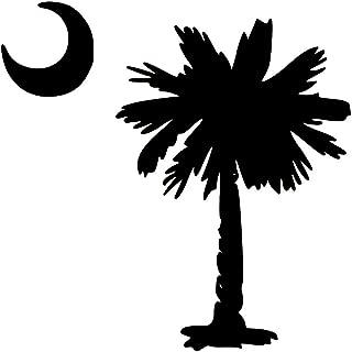 Minglewood Trading Palmetto Tree South Carolina Flag Crescent Moon Vinyl Decal Sticker - 5