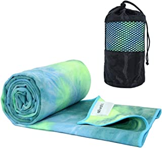 ATIVAFIT Yoga Towel Mat Mate Towel with Non Slip Resin Particles Hot Yoga Towel for Sport Gym Workout Fitness Potable Beac...