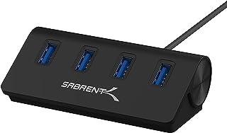 Sabrent Hub Premium 4 Puertos de Aluminio Negro USB 3.0 (Cable de 30