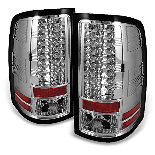 For 07-13 Sierra 1500 07-14 Sierra 2500HD 3500HD Pickup Truck LED Tail Lights Brake Lamps Replacement