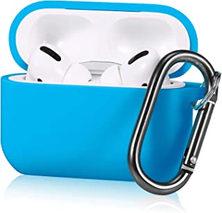 Joyleop Sky Blue Case for Airpods 3/for Airpods Pro,Cute Fashion Character Silicone Funny Air pods Charging Cover,Soft Colorful Cool Skin Kits Anti-Lost Carabiner,Unique Protective Cases for Airpod 3