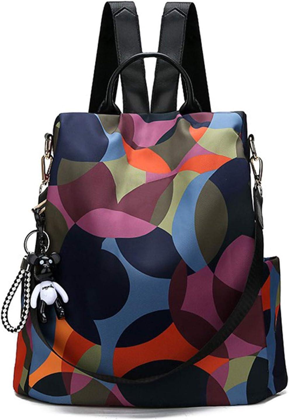 Freie Liebe Women Backpcak Purse Anti-Theft Waterproof Nylon Ladies Rucksack Lightweight Shoulder Bags