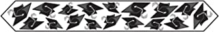 Printed Grad Cap Table Runner (black) Party Accessory  (1 count) (1/Pkg)