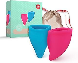 Fun Factory FUN CUP Storlek A – Ergonomiska menstruationskoppar för svagare dagar (2 koppar – liten)
