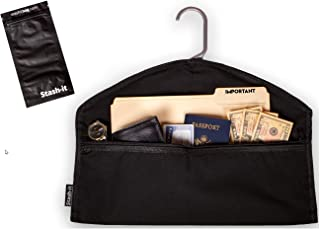 Hanger Diversion Safe by Stash-it | Hidden Pocket Safe | Hides Under Hanging Clothes with Pocket to Hide Valuables for Hom...