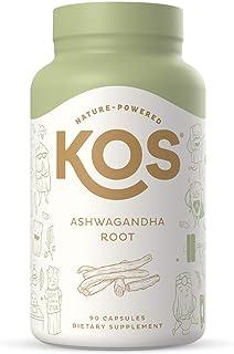 KOS Organic Ashwagandha KSM-66 1500mg - High Potency, Natural Anxiety & Stress Relief, Promotes Adrenal Health - Pure Ashw...