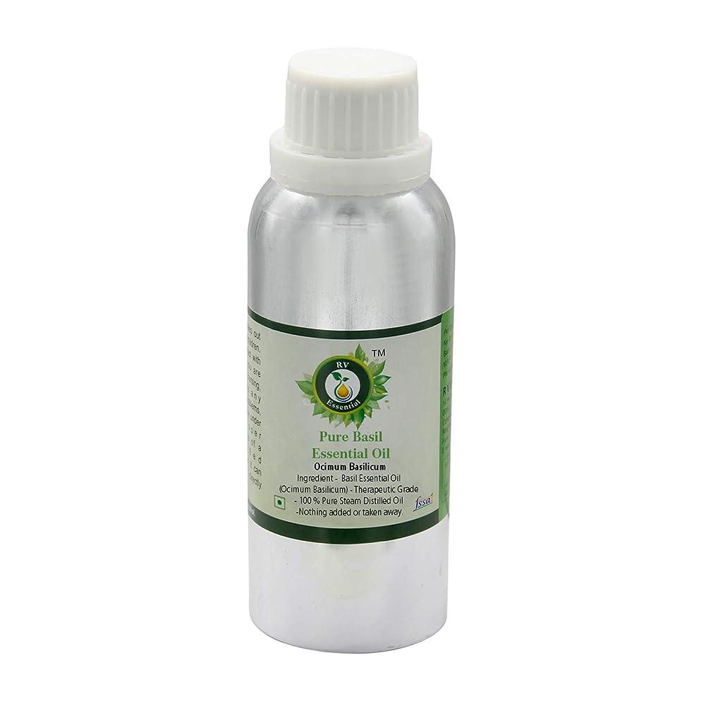 沈黙関係する勝利R V Essential ピュアバジルエッセンシャルオイル1250ml (42oz)- Ocimum Basilicum (100%純粋&天然スチームDistilled) Pure Basil Essential Oil