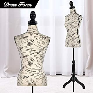 Mannequin Torso Manikin Dress Form Cover Mannequins Female Body Sewing Dress Form with Adjustable Tripod Stand 60-67 Inch Height Stand for DressDisplay Clothes Display Jewelry Display