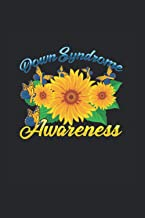 Down Syndrome Awareness: Down Syndrome Awareness Sunflower Butterfly Gift Notebook 6x9 Inches 120 dotted pages for notes, ...