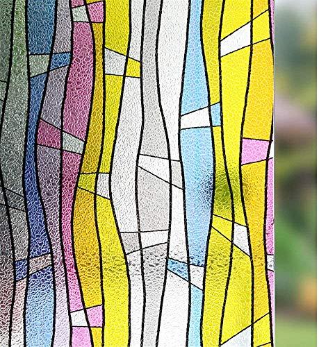 LMKJ Película de privacidad Opaca Pegatina de Vinilo autoadhesiva electrostática para Ventanas, película de protección contra el Calor y los Rayos UV para Puertas y Ventanas de Vidrio A42 30x200cm
