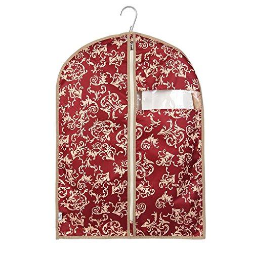 Xuan - Worth Another Motif Floral Rouge 5 Pcs Lavable Vêtements Housse De Poussière Fenêtre Suit Couverture Haute Qualité Valise Sac Sac De Rangement (Taille : 60 * 120cm)