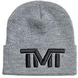 (ザ・マネーチーム) THE MONEY TEAM tmt-h84-ek THE MONEY TEAM ザ・マネーチームON TOP ニット グレーベース x 黒ロゴ 刺繍(フロイド・メイウェザー TMT メイウェザー ボクシング tmtキャップ 帽子 メンズ ストリート ストリート系 ロゴ ニット帽)