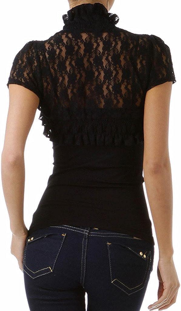 Imagenation Short Sleeve Floral Lace Shrug Bolero