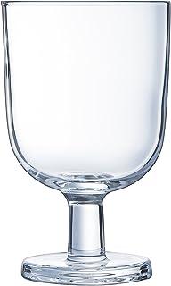 Luminarc - 3 Verres à Pied Guinguette - Verres Rétro Empilables et Robustes - Verre Trempé - Compatibles Lave-Vaisselle - ...