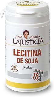 Ana Maria Lajusticia - Lecitina de soja – 90 perlas reduce el colesterol en sangre y mejora la memoria. Apto para veganos. Envase para 15 días de tratamiento.