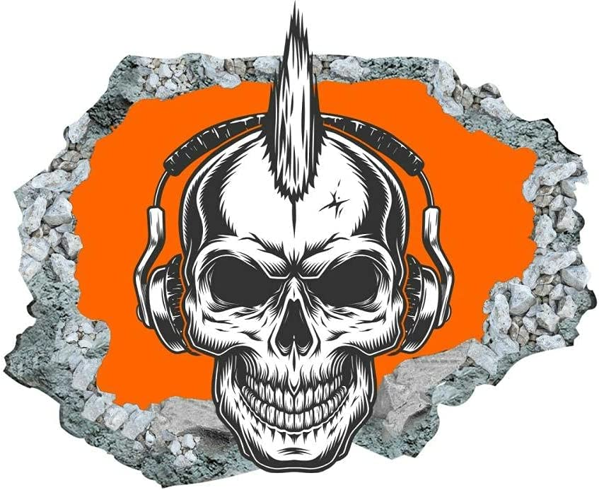 Challenge the Max 82% OFF lowest price Cartoon Skull Sticker Wall Decals Home 3D Decor Desig Rock Style