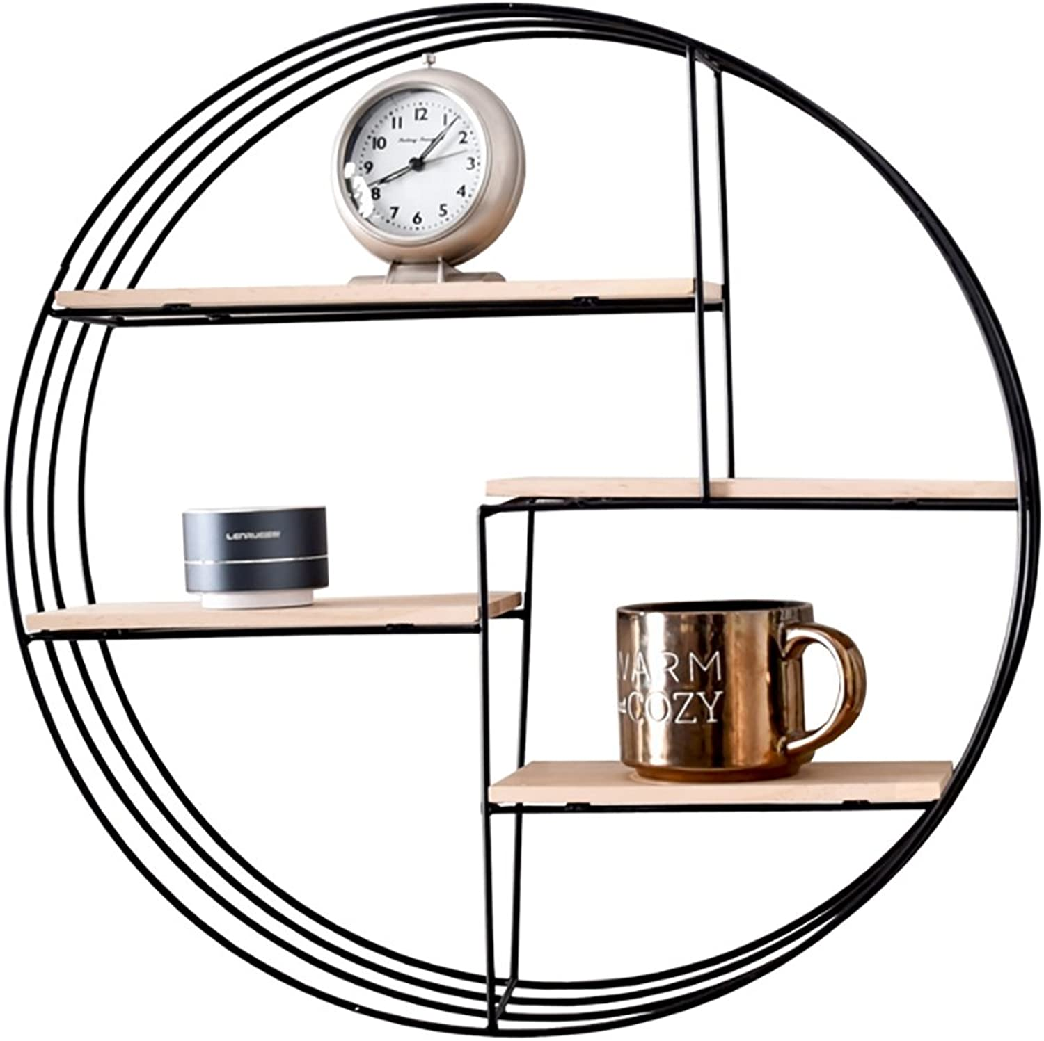Decorative Accessories Wall-Mounted Wall Frame Wrought Iron Circular partition Wall Shelf Wall Wall Decorative Shelf Creative Small Shelf 50  10  50cm Floating Shelves