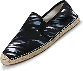 Hommes Espadrilles Mottled Shadow Bande Élastique Respirant Chaussures en Toile Anti-Slip Slip-on Low-Top Casual Mocassins