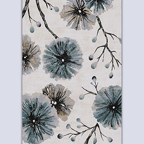 ASL Ink Painting Mash Up Simple Table basse moderne Salon Chambre à coucher Étude Sofa Process Art Thicker plus épais Tapis Tapis sos (Couleur : #2, taille : 120 * 170CM)