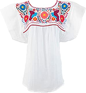 Mexican Blouse Campesina Floral