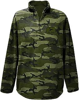 Mens Camo Quarter Zip Adult Micro Fleece Jacket