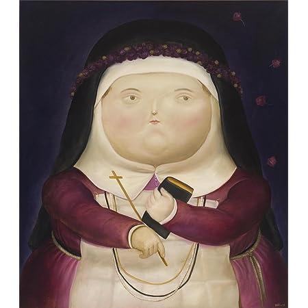 Fernando Botero Santa Rosa De Lima Canvas Art Print By Ycc Size 18x24 Non Canvas Poster Print Posters Prints