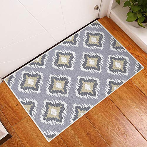 Sussexhome Tetra Multi Collection 2 x 3 Foot Heavy Duty Low Pile Rug Runner - Ultra-Thin Non Slip Area Rug - Washable Cotton Indoor Rug for Front Door Foyer Rug for Entryway