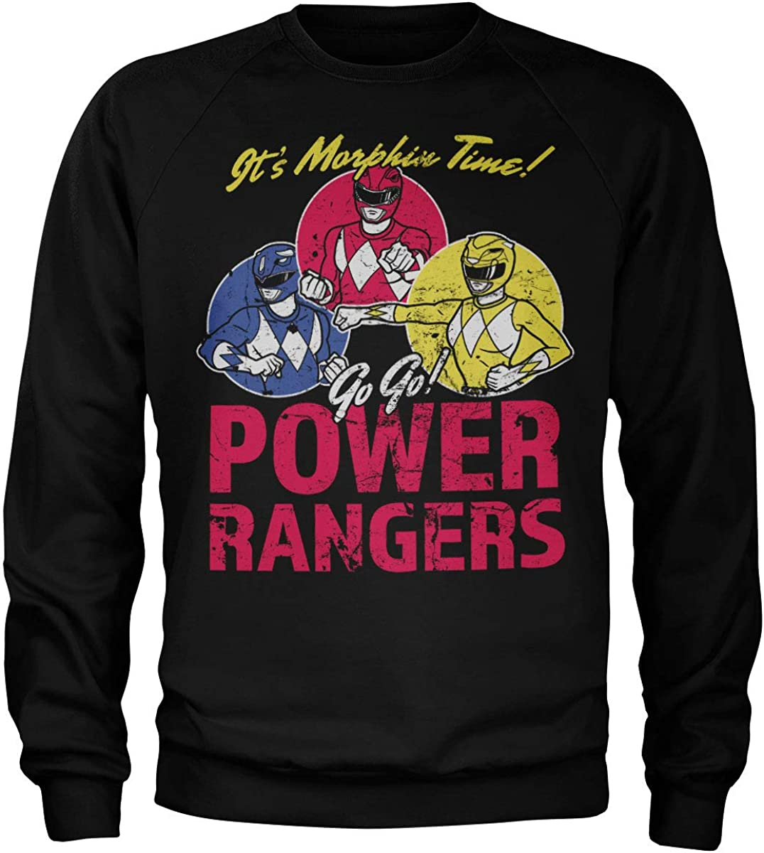 Power Rangers Officially Licensed It's Morphin Time Sweatshirt (Black), M
