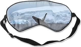 100% Silk Sleep Mask for Women & Men, Eye Mask for Sleeping with Adjustable Strap, Blindfold, Antarctica Ocean Ice Whale